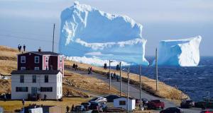 Айсберг стал достопримечательностью канадского острова