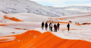 Снег накрыл Марокко